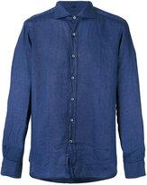 Fay classic shirt - men - Linen/Flax - 41