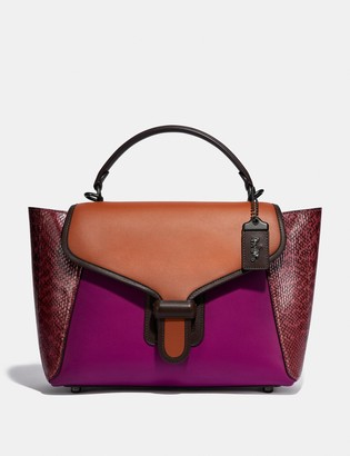 Coach Courier Carryall With Snakeskin Detail