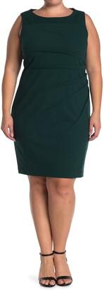 Calvin Klein Starburst Pleat Sleeveless Sheath Dress