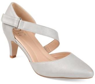 Brinley Co. Womens Comfort-sole D'orsay Cross-strap Pumps