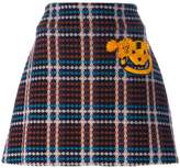 Au Jour Le Jour checked skirt