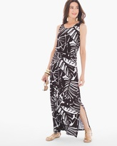 Chico's Noelle Palm Print Maxi Dress