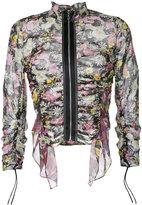 3.1 Phillip Lim floral printed jacket - women - Silk - 4