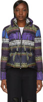 Peter Pilotto Violet and Green Gymnast Print Cara Jacket