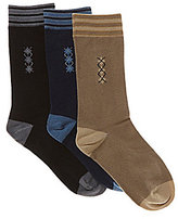 Class Club 3-Pack Mini Argyle Socks