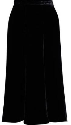 McQ Fluted Velvet Midi Skirt