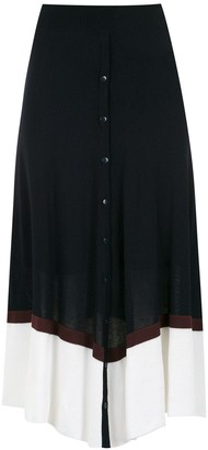 M·A·C Mara Mac two-tone midi skirt