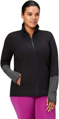 Core 10 Women's Icon Series - The Ballerina Plus Size Fitted Full-Zip Jacket