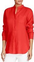 Lauren Ralph Lauren Linen Popover Shirt