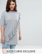 Asos Ruffle Tunic with Neck Trim