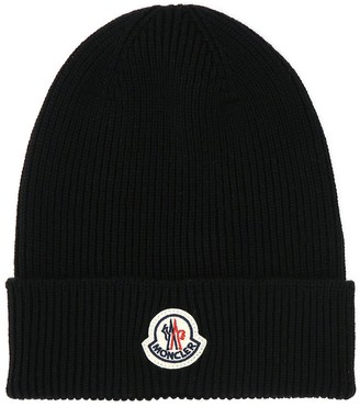 Moncler Logo Patch Knitted Beanie