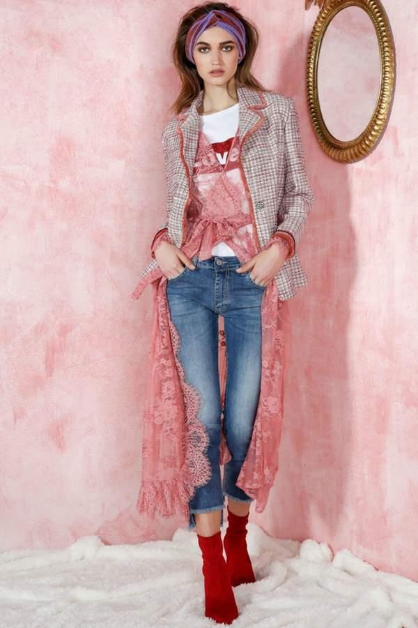 Dixie Blush Tweed Blazer
