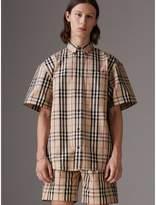 Gosha X Burberry Short-sleeve Check Shirt , Size: Xl