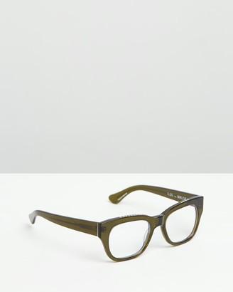 Caddis Green Blue Light Lenses - Miklos Optical Glasses - Blue Light Lenses - Size +0.00 at The Iconic