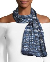 Escada Printed Silk Oblong Scarf