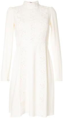 Giambattista Valli Long-Sleeve Flared Dress