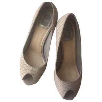 Christian Dior Beige Python Heels