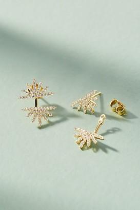 Embellished Sunburst Front-Back Earrings