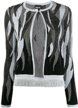 Just Cavalli Abstract Pattern Cardigan