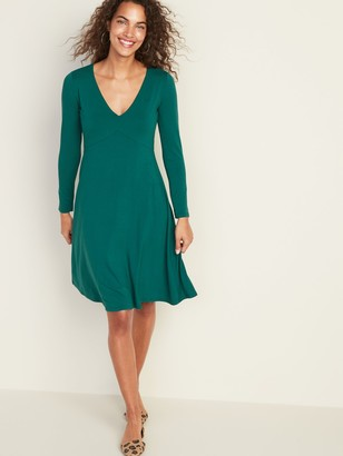 Old Navy Fit & Flare Empire-Waist Jersey Dress for Women