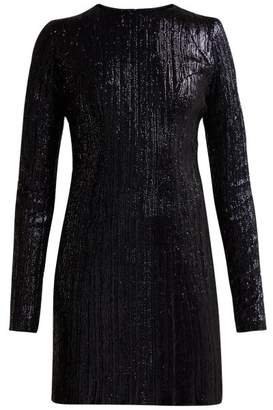 Galvan Dusk Sequin-embellished Mini Dress - Womens - Navy