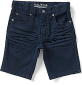 Nautica Little Boys 4-7 5-Pocket Stretch Shorts