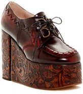 Vivienne Westwood Tooled Leather Platform Oxford