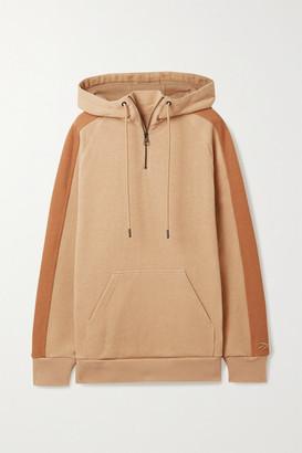 Reebok x Victoria Beckham Oversized Cotton-jersey Hoodie - Camel