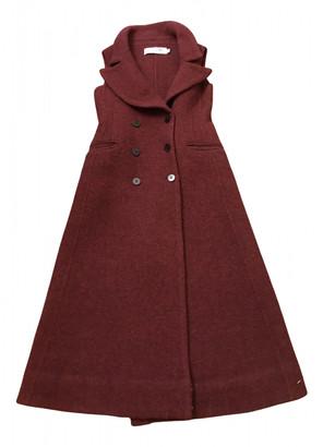 Christian Dior Burgundy Wool Coats