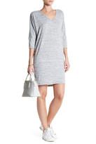 Bobeau 3/4 Sleeve V-Neck Dress