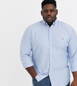 Polo Ralph Lauren Big & Tall Oxford Shirt Player Logo Button Down in Light Blue