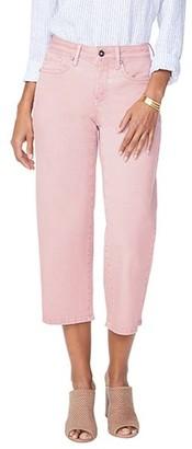 NYDJ Wide Leg Capri Jeans with Clean Hem -Pueblo Rose