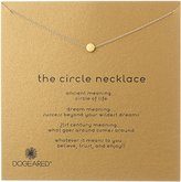 "Dogeared Circle"" Silver Chain Necklace, 16"""