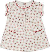 Petit Bateau Cotton-blend floral dress 1-12 months
