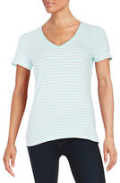 Lord & Taylor Petite Striped Stretch-Cotton Tee