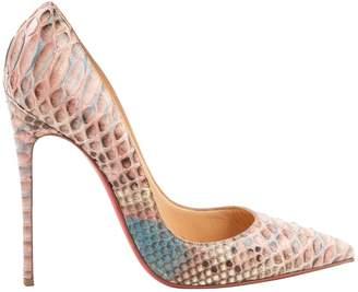 Christian Louboutin So Kate Multicolour Python Heels