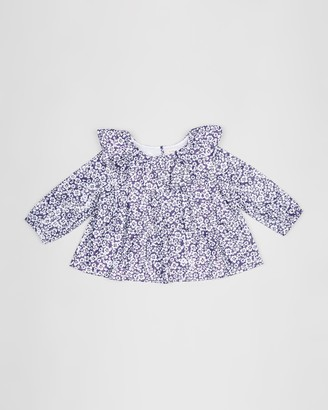 crewcuts by J.Crew Hannah Floral Lame Ruffle Top - Teens