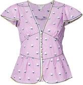 Marc Jacobs flutter sleeve floral blouse