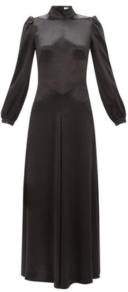 Bella Freud Ophelia Tie-back Satin Dress - Womens - Black