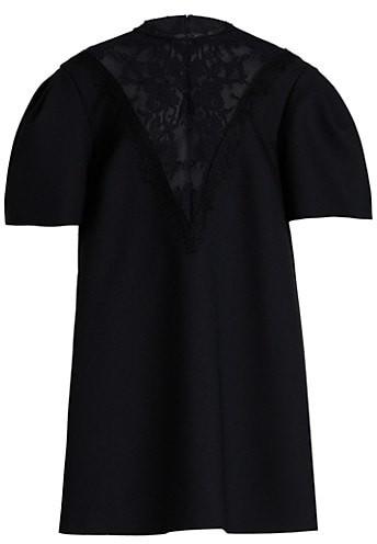 Alexander McQueen New Lace Puff-Sleeve Day Dress