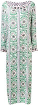 Tory Burch embellished trim maxi dress - women - Silk - M