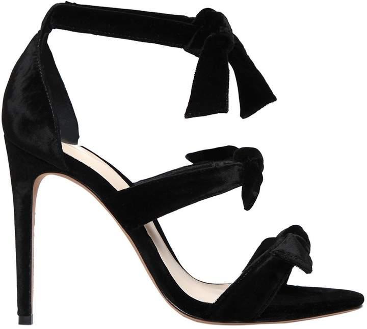 Alexandre Birman 100mm Lolita Knots Velvet Sandals