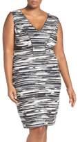 Tart 'Viera' Piped Detail V-Neck Sheath Dress