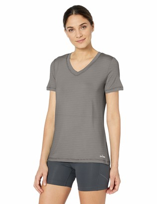 Spalding Women's Micro Stripe Short Sleeve V Neck Tee