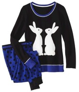 Juniors Thermal Pajama Set - Bunny