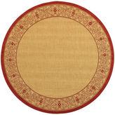 Asstd National Brand Courtyard Tribal Indoor/Outdoor Round Rugs