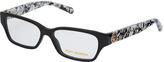 Tory Burch Black Marble Rectangle Eyeglasses