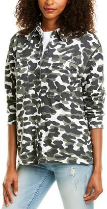 Monrow Animal Camo Shirt Jacket