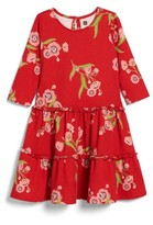 Tea Collection Toddler Girl's Rowan Floral Print Tiered Dress
