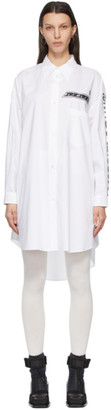 MM6 MAISON MARGIELA White Motocross Logo Shirt Dress